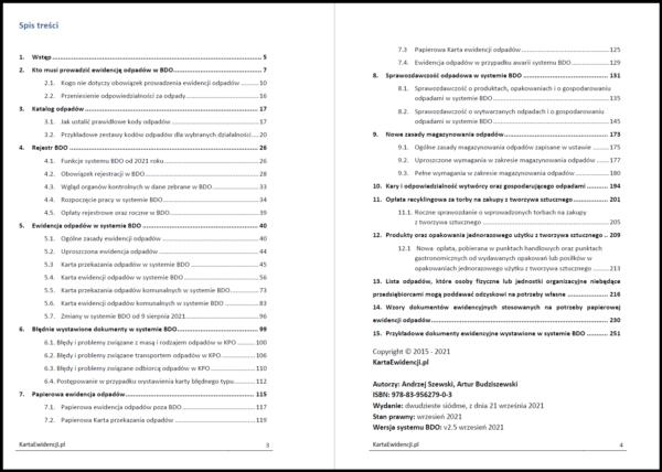 Spis treści poradnik BDO wrzesień 2021